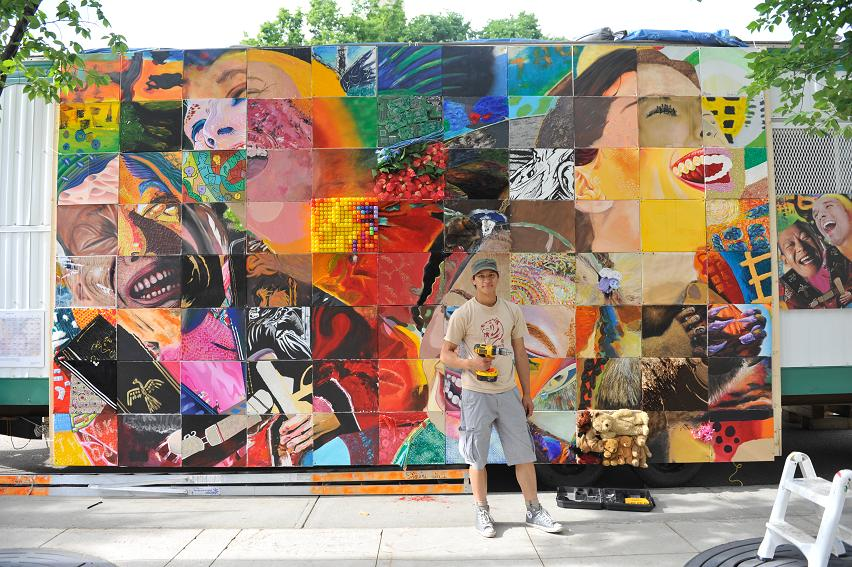 collaborative mural (unnamed) by Wil Yee CHURCHILL SQUARE (2012)